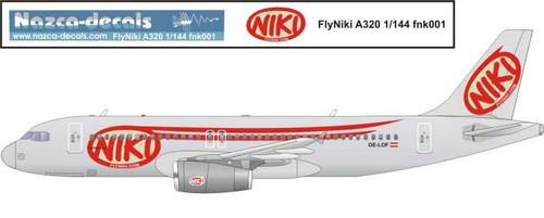 1/144 Scale Decal FlyNiki A-320