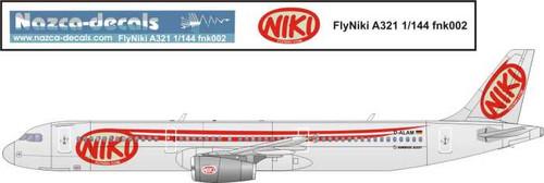 1/144 Scale Decal FlyNiki A-321