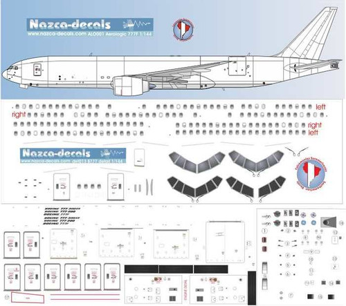 1/144 Scale Decal Detail Sheet 777-200 / 300