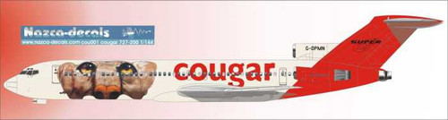 1/144 Scale Decal Cougar Leasing 727-200