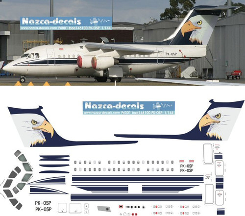 1/144 Scale Decal Eagle Private Livery BAe-146