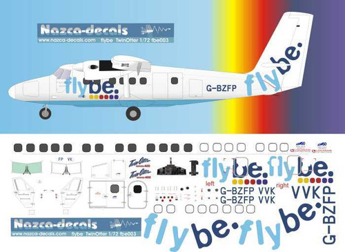 1/72 Scale Decal Flybe DHC-6 Twinotter