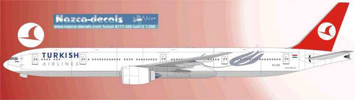1/144  Scale Decal Turkish Airlines 777-300