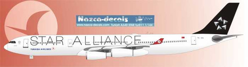 1/144 Scale Decal Turkish Airlines A340-300 STAR ALLIANCE
