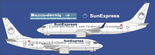 1/144 Scale Decal SunExpress B737-700 / 800