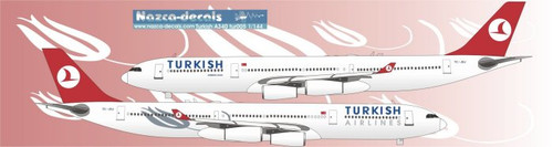 1/144 Scale Decal Turkish Airlines A340-300