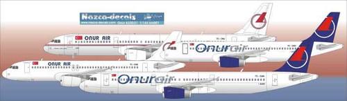 1/144 Scale Decal Onur Air A-320 / A-321