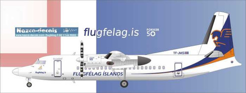 1/100 Scale Decal Flugfélag  Islands F- 50