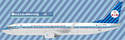 1/144  Scale Decal KLM 737-800 Retro