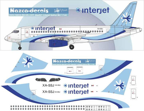 1/144 Scale Decal Interjet Sukhoi