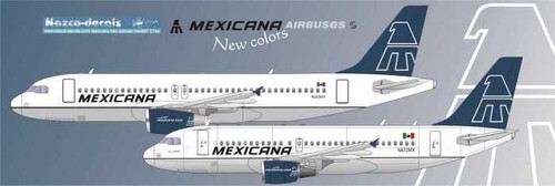 1/144 Scale Decal Mexicana A-319 / A-320