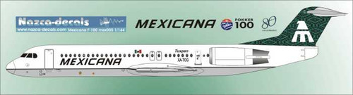 1/144 Scale Decal Mexicana F-100