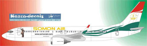 1/144 Scale Decal Somon Air 737-800