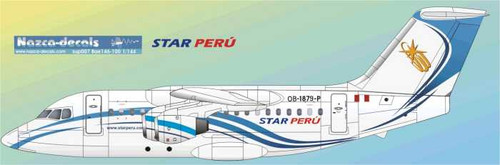 1/144 Scale Decal Star Peru BAe146-100