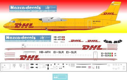 1/144 Scale Decal DHL ATR-72 Farnair Europa