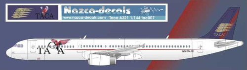 1/144 Scale Decal TACA A-321 with Parrot