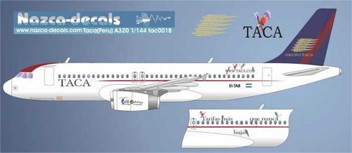 1/144 Scale Decal TACA / Cubana A-320