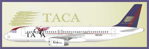 1/144 Scale Decal TACA A-320 with Parrot
