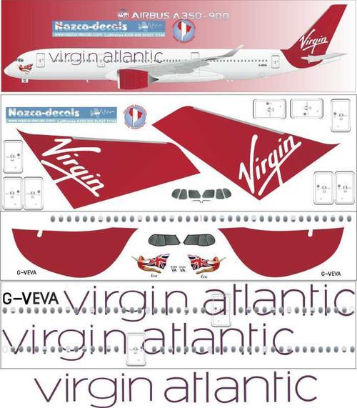 1/144 Scale Decal Virgin Atlantic A350-900