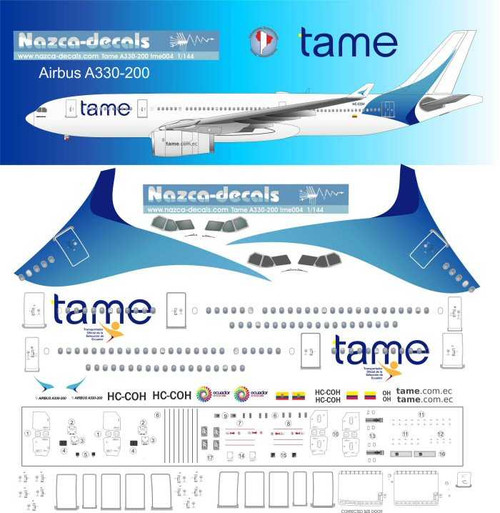 1/500 Scale Decal Tame A-330