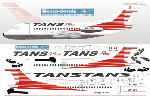 1/144 Scale Decal TANS Peru F-28