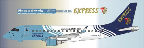 1/144 Scale Decal EgyptAir Express Emberair 170