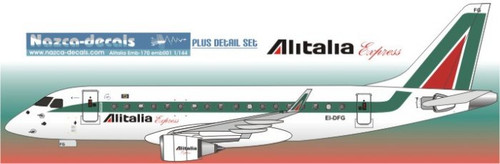 1/144 Scale Decal Alitalia Express Emberair 170