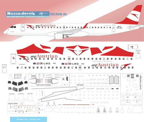 1/144 Scale Decal my Austrian Emberair 195