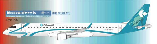 1/144 Scale Decal Air Dolomiti Emberair 195