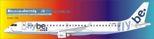 1/144 Scale Decal Flybe Emberair 195