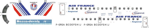 1/144 Scale Decal Air France Regional ERJ-145