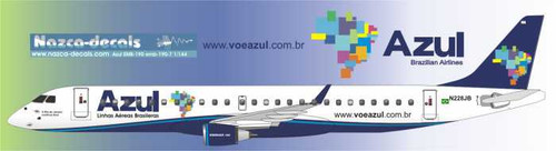 1/144 Scale Decal Air Azul Emberair 190
