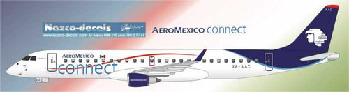 1/144 Scale Decal AeroMexico Connect  Emberair 190