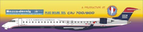 1/144 Scale Decal US Airways Express / Mesa Airways CRJ-900