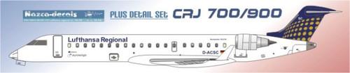 1/144 Scale Decal Lufthans Reginal / Eurowings CRJ-700