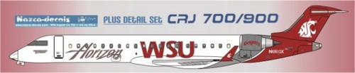 1/144 Scale Decal Horizon CRJ-700 / 900 WSU Logojet