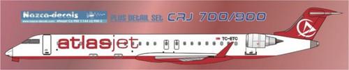 1/144 Scale Decal Atlasjet CRJ-700 / 900