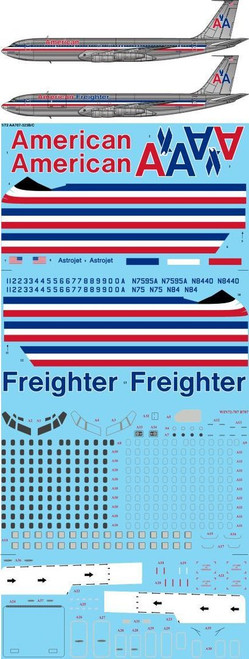 1/72 Scale Decal American Airlines 707