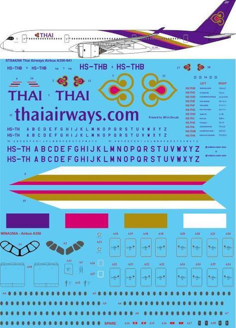 1/144 Scale Decal Thai Airways A350-900