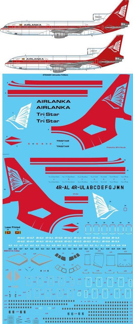 1/144 Scale Decal Airlanka L-1011-500