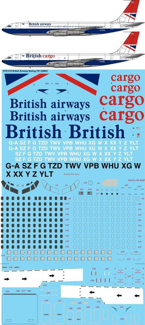 1/72 Scale Decal British Airways 707