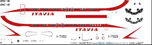 1/144 Scale Decal Itavia DC9-15