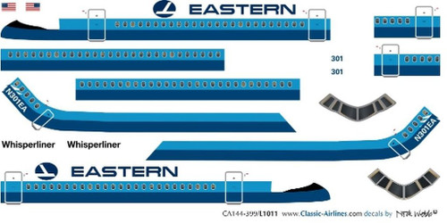 1/144 Scale Decal Eastern Airlines L-1011