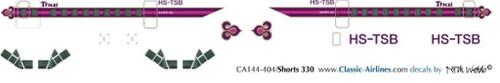 1/144 Scale Decal Thai Airways Shorts 330