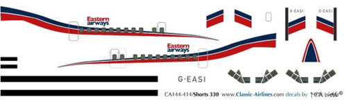 1/144 Scale Decal Eastern Airways Shorts 330