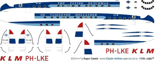 1/144 Scale Decal KLM Super Connie