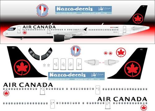 1/200 Scale Decal Air Canada A-321