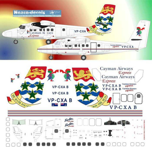 1/72 Scale Decal Cayman Airways Express DHC-6 Twin Otter