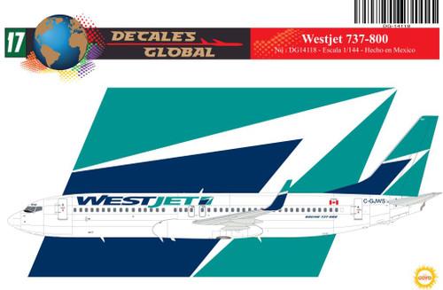 1/144 Scale Decal WestJet 737-800