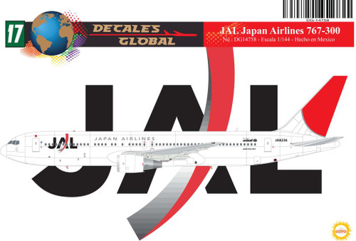 1/144 Scale Decal JAL - Japan Airlines 767-300